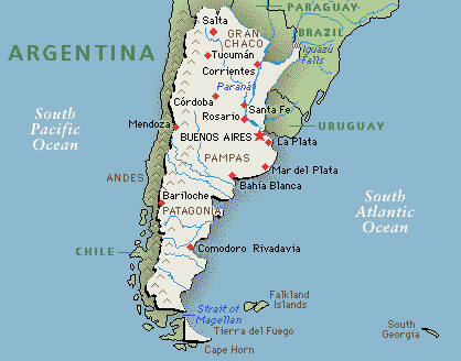 Basic Facts Argentina - Argentina map latitude